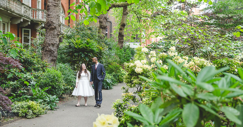 Mayfair Library Wedding Photographer