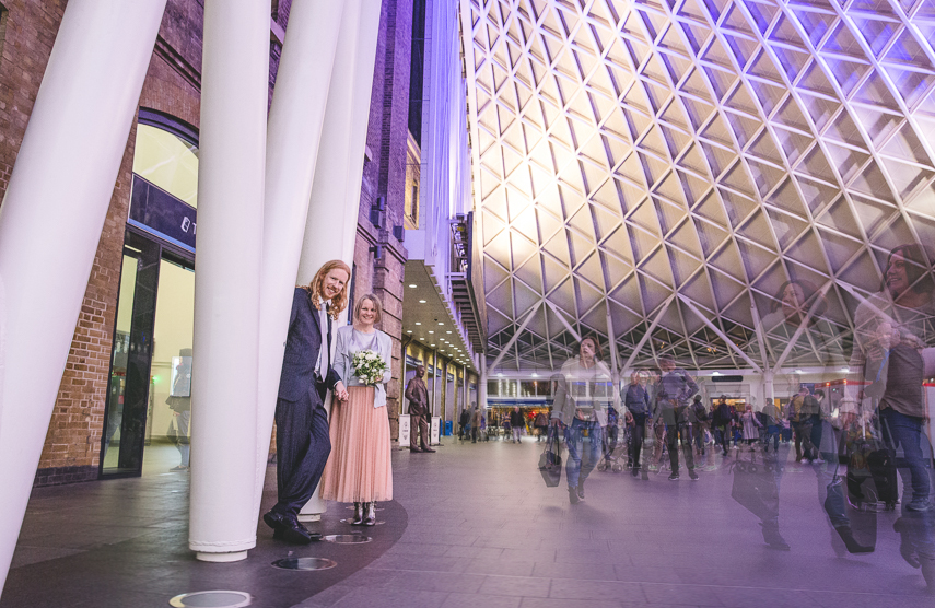 Wedding Photography at St. Pancras station in London