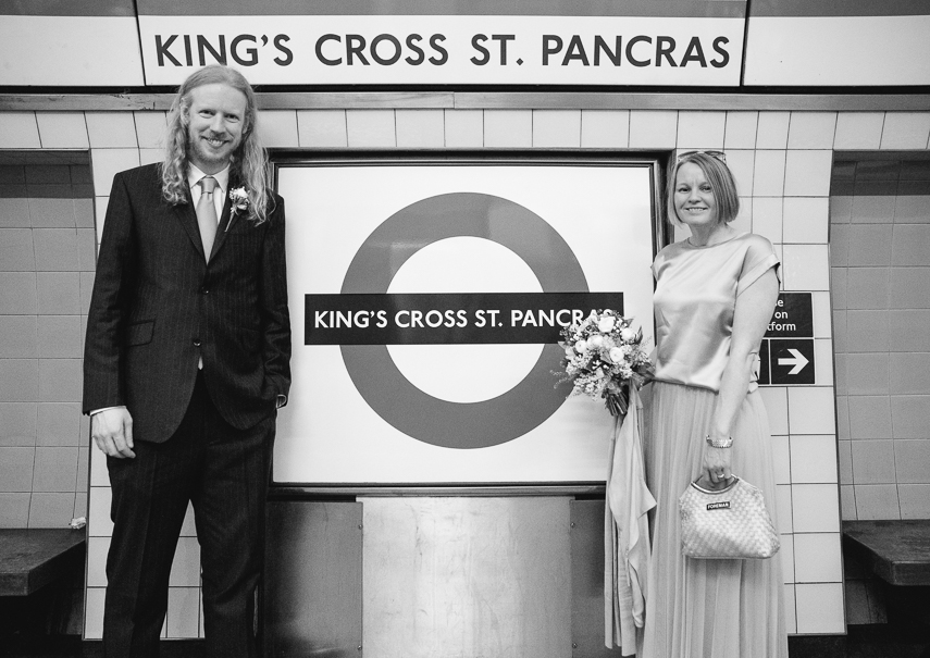 Wedding Photographer for ceremony inside St. Pancras station