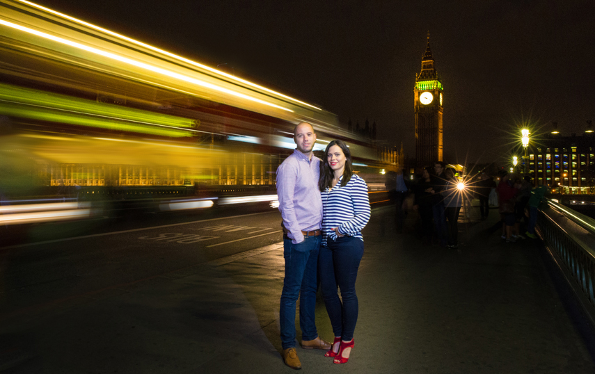couples portraits with London landmarks